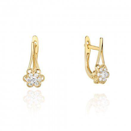 Biżuteria SAXO 14K Kolczyki z diamentami 0,31ct CK-62 Złoto