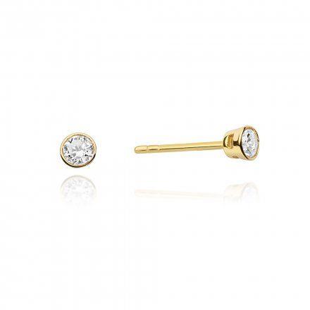 Biżuteria SAXO 14K Kolczyki z diamentami 0,20ct CK-67 Złoto