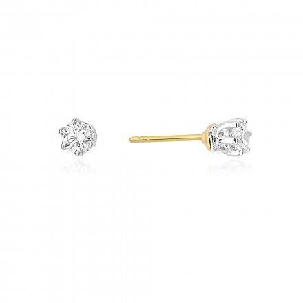 Biżuteria SAXO 14K Kolczyki z diamentami 0,30ct CK-68 Złoto