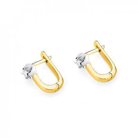 Biżuteria SAXO 14K Kolczyki z diamentami 0,18ct CK-155 Złoto