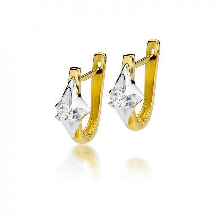 Biżuteria SAXO 14K Kolczyki z diamentami 0,30ct CK-155 Złoto