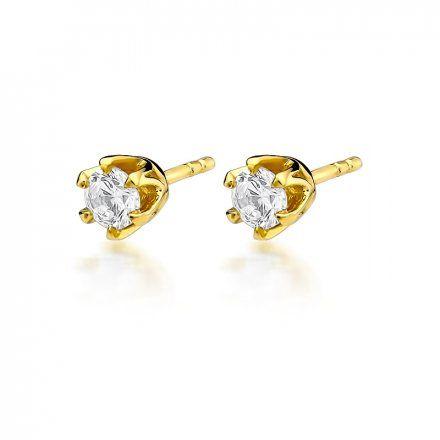 Biżuteria SAXO 14K Kolczyki z diamentami 0,60ct CK-220 Złoto