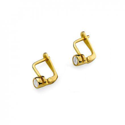 Biżuteria SAXO 14K Kolczyki z diamentami 0,30ct CK-224 Złoto