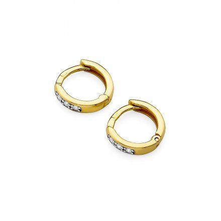 Biżuteria SAXO 14K Kolczyki z diamentami 0,08ct CK-235 Złoto
