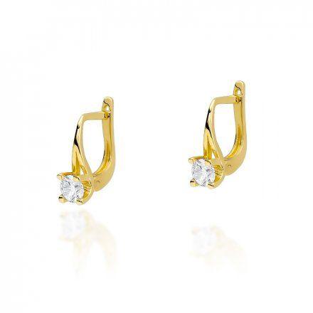 Biżuteria SAXO 14K Kolczyki z diamentami 0,40ct CK-381 Złoto
