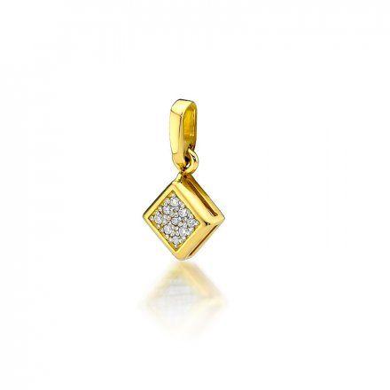 Biżuteria SAXO 14K Zawieszka 0,045ct Z-36 Złoto z diamentem