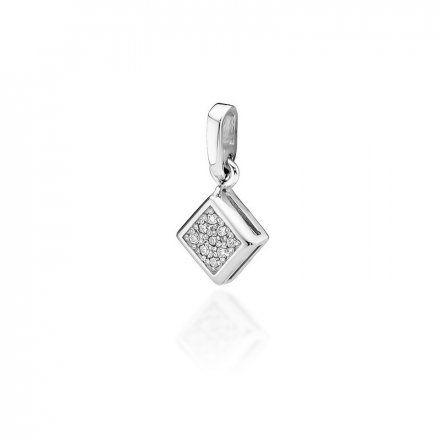 Biżuteria SAXO 14K Zawieszka 0,045ct Z-36 Białe Złoto z diamentem