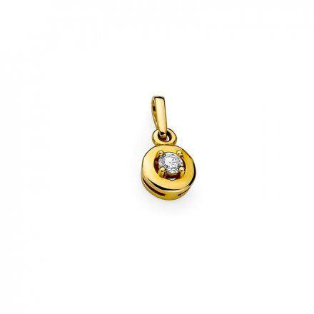 Biżuteria SAXO 14K Zawieszka 0,10ct Z-45 Złoto z diamentem