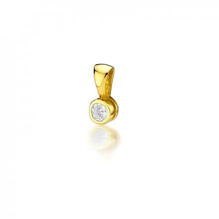 Biżuteria SAXO 14K Zawieszka 0,20ct Z-224 Złoto z diamentem