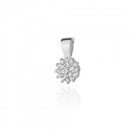 Biżuteria SAXO 14K Zawieszka 0,10ct Z-401 Białe Złoto z diamentem