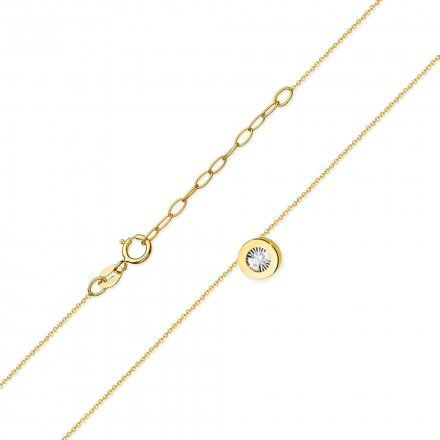 Biżuteria SAXO 14K Naszyjnik damski C-19 Złoto z diamentami