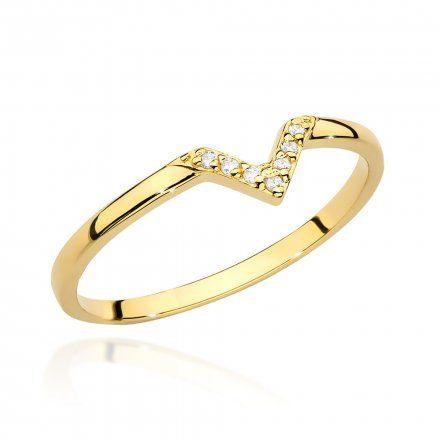 Biżuteria SAXO 14K Pierścionek z brylantem 0,04ct BC-002 Złoto