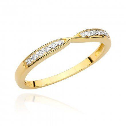 Biżuteria SAXO 14K Pierścionek z brylantem 0,10ct BC-003 Złoto