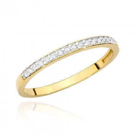 Biżuteria SAXO 14K Pierścionek z brylantem 0,09ct BC-005 Złoto