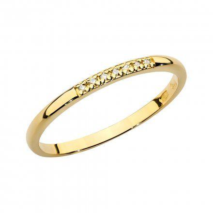 Biżuteria SAXO 14K Pierścionek z brylantem 0,04ct BC-007 Złoto