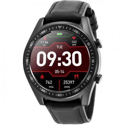 Czarny smartwatch męski Rubicon RNCE43BIBX03A2