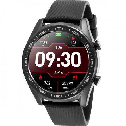 Czarny smartwatch męski Rubicon RNCE43BIBX03A1
