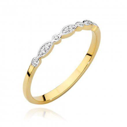 Biżuteria SAXO 14K Pierścionek z brylantem 0,05ct BC-043 Złoto