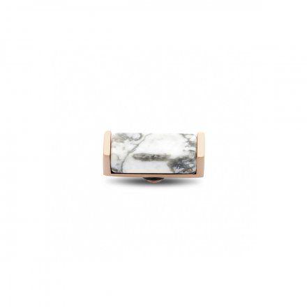 Element wymienny Meddy Melano Twisted TM53 Kamień Prostokątny Złoty Howlite