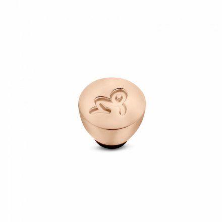 Element wymienny Meddy Melano Twisted TM50 Stal Różowe złoto Znak Zodiaku Koziorożec