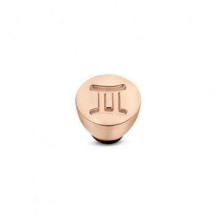 Element wymienny Meddy Melano Twisted TM50 Stal Różowe złoto Znak Zodiaku Bliźnięta