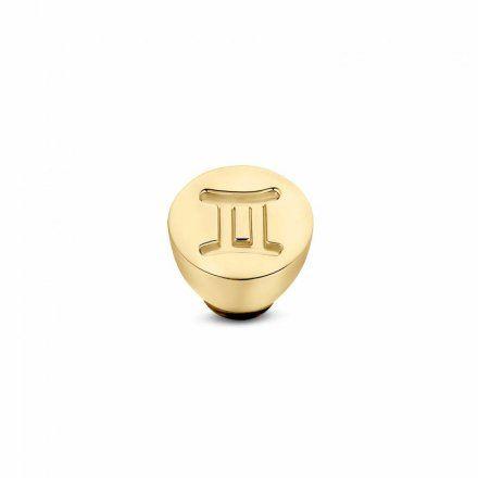 Element wymienny Meddy Melano Twisted TM50 Stal Złoty Znak Zodiaku Bliźnięta