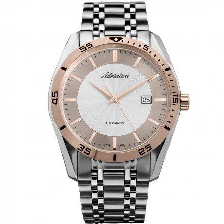 Zegarek Męski Adriatica na bransolecie A8202.R113A - Automatic Swiss Made