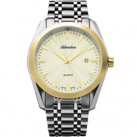 Zegarek Męski Adriatica na bransolecie A8202.2111Q - Zegarek Kwarcowy Swiss Made