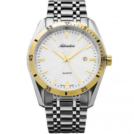 Zegarek Męski Adriatica na bransolecie A8202.2113QP Zegarek Kwarcowy Swiss Made
