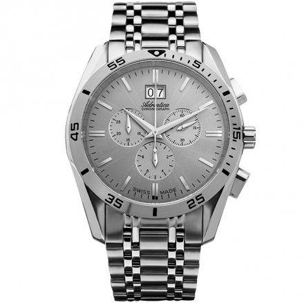 Zegarek Męski Adriatica na bransolecie A8202.5117CH - Chronograf Swiss Made
