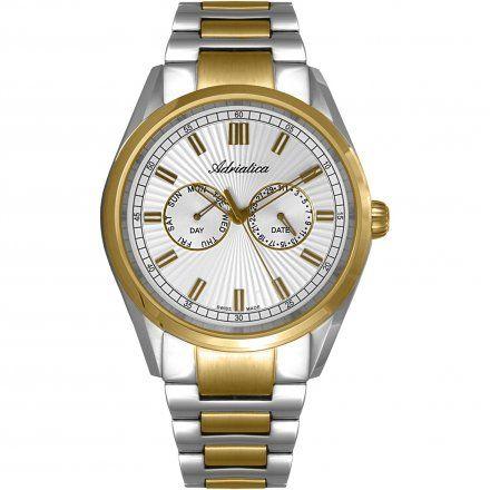 Zegarek Męski Adriatica na bransolecie A8211.2113QF - Multifunction Swiss Made