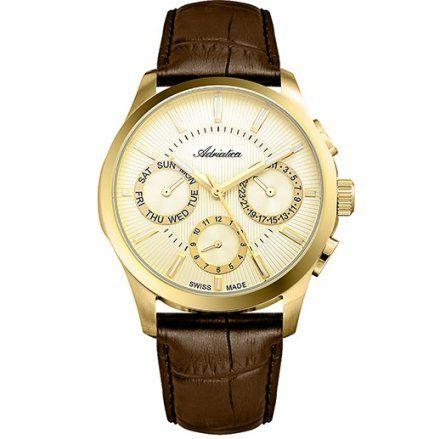 Zegarek Męski Adriatica na Pasku A8255.1211QF - Multifunction Swiss Made