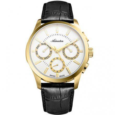 Zegarek Męski Adriatica na Pasku A8255.1213QF - Multifunction Swiss Made