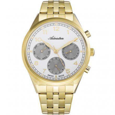 Zegarek Męski Adriatica na bransolecie A8259.1123QF - Multifunction Swiss Made