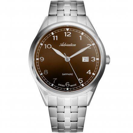 Zegarek Męski Adriatica na bransolecie A8260.512GQ - Zegarek Kwarcowy Swiss Made