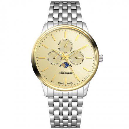 Zegarek Męski Adriatica na bransolecie A8262.2111QF - Multifunction Swiss Made