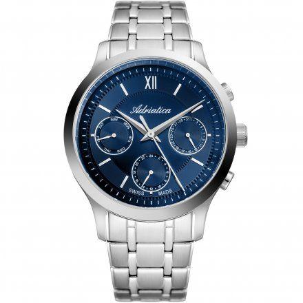 Zegarek Męski Adriatica na bransolecie A8276.5165QF - Multifunction Swiss Made
