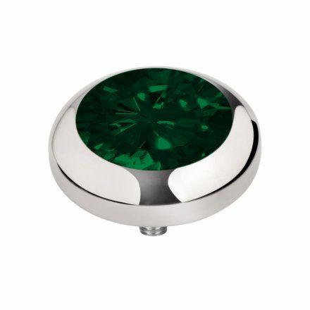 Element wymienny Meddy Melano Vivid M01SR Okrągły Srebrny Emerald Green