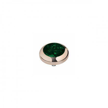 Element wymienny Meddy Melano Vivid M01SR Okrągły Różowe złoto Emerald Green