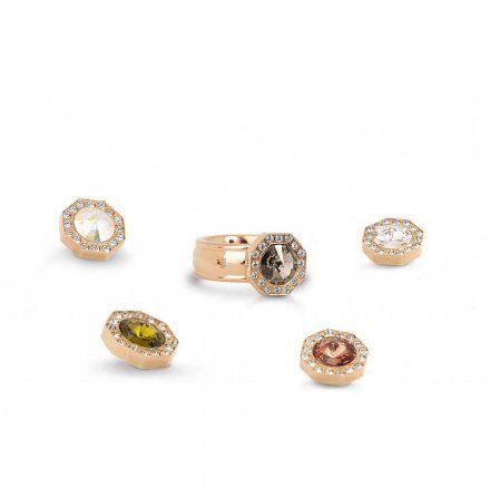 Element wymienny Meddy Melano Vivid VM20 Ośmiokąt z cyrkoniami Różowe złoto Olive