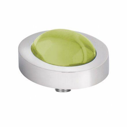 Element wymienny Meddy Melano Vivid M01SR Owalny Srebrny Lime