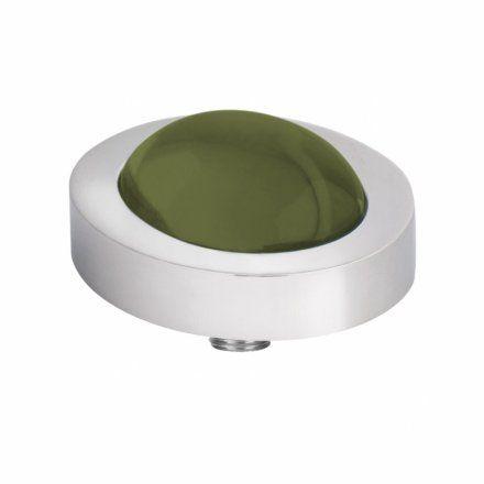 Element wymienny Meddy Melano Vivid M01SR Owalny Srebrny Olive