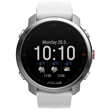 Polar GRIT X Biały zegarek sportowy z GPS i pulsometrem