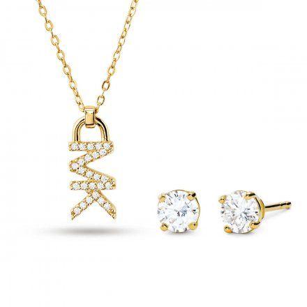 Biżuteria Michael Kors - Naszyjnik MKC1261AN710 + Kolczyki