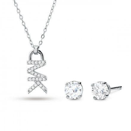 Biżuteria Michael Kors - Naszyjnik MKC1261AN040 + Kolczyki
