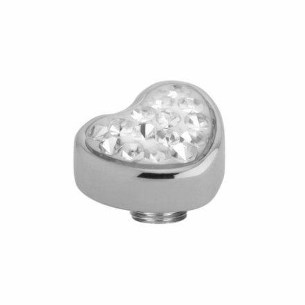 Element wymienny Meddy Melano Vivid M01SR Serce Srebrny Crystal
