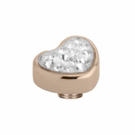 Element wymienny Meddy Melano Vivid M01SR Serce Różowe złoto Crystal