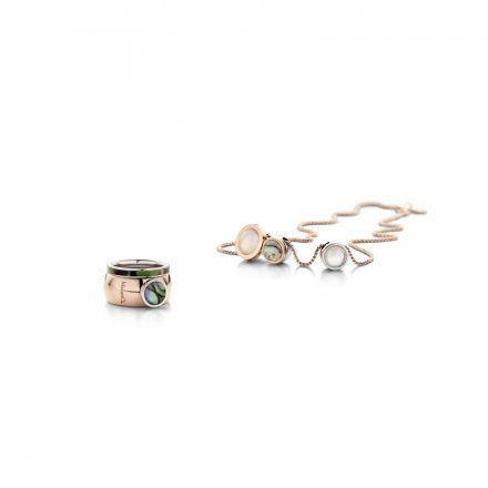 Element wymienny Meddy Melano Vivid M01SR Muszla Okrągły Srebrny Abalone
