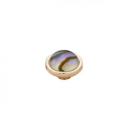 Element wymienny Meddy Melano Vivid M01SR Muszla Okrągły Różowe złoto Abalone