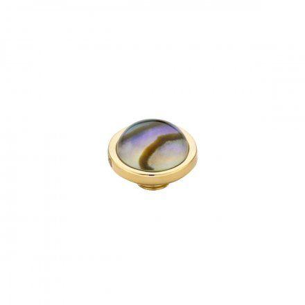 Element wymienny Meddy Melano Vivid M01SR Muszla Okrągły Złoty Abalone